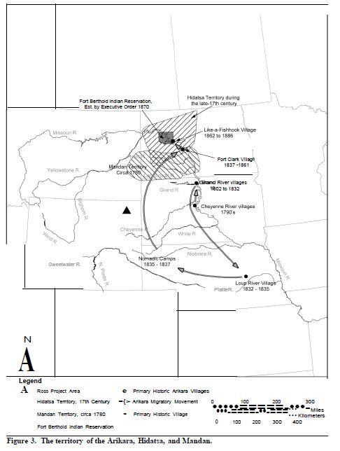 Arikara Hidatsa Mandan Territory